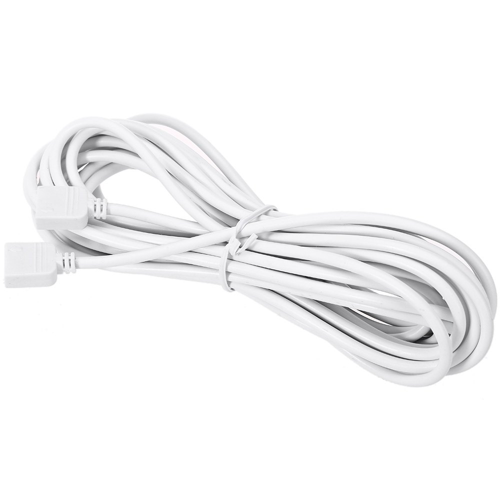 1pcs White 3M Extension Cable Wire with 4 Pin Plug for SMD 5050 3528 RGB LED Strip Ribbon Light(China (Mainland))