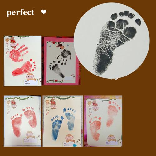 15 Colors Baby Care Air Drying Soft Clay Baby Handprint Footprint Imprint Kit Casting Parent-child Hand Inkpad Fingerprint