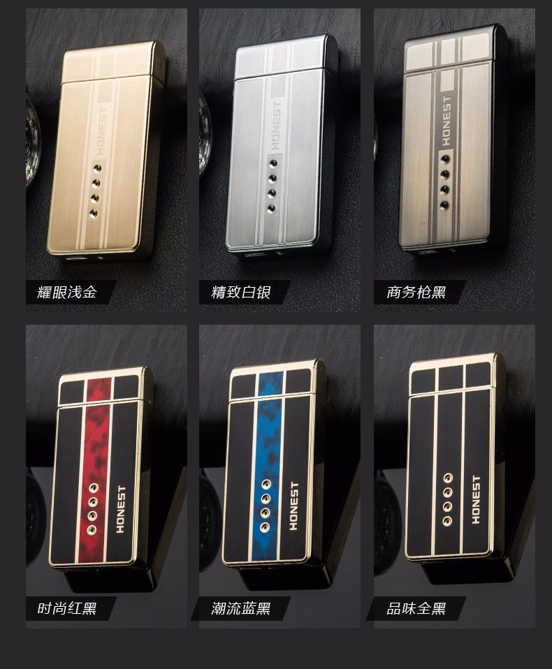 ถูก 12ชิ้น/ล็อตใหม่มาถึงUSB arcเบาisqueiroเป็นของขวัญคริสมาสต์สำหรับผู้ชายควันเครื่องมือบุหรี่windproofเบากับของขวัญกล่อง