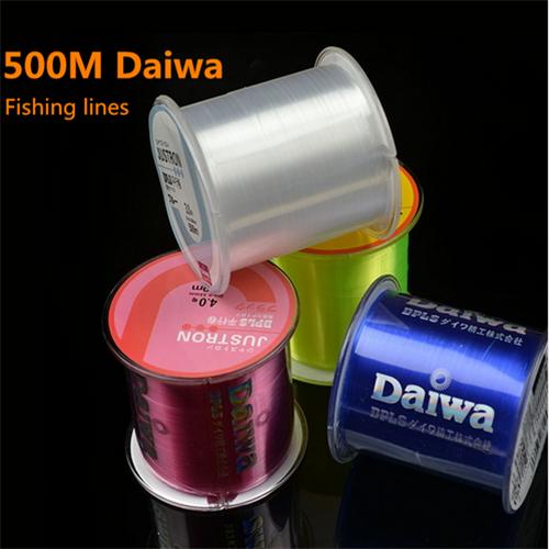 500M Brand Daiwa monofilament fishing line, nylon material, Super Strong,linha monofilamento fishing-tackle, freee shipping