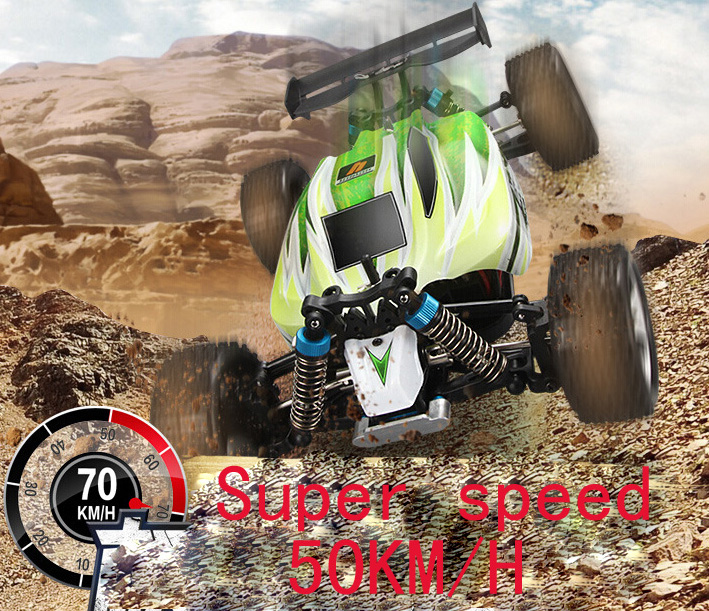New Arrival 1:18 4WD RC Car Wltoys Updated Version 2.4G Radio Control Truck RC Buggy Highspeed Off-Road 50KM/H(China (Mainland))