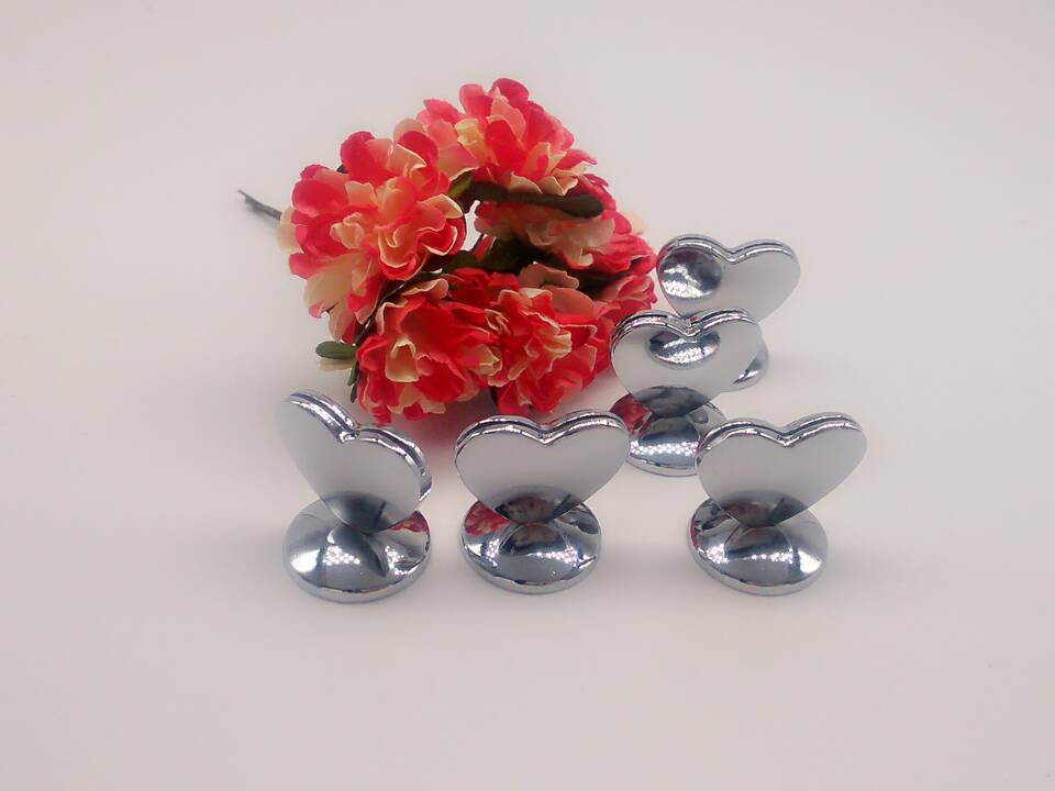 1pcs Mini Design Heart Shape stainless steel Place Card Holders Wedding Table Decoration Gift Bridal Shower party supplies(China (Mainland))