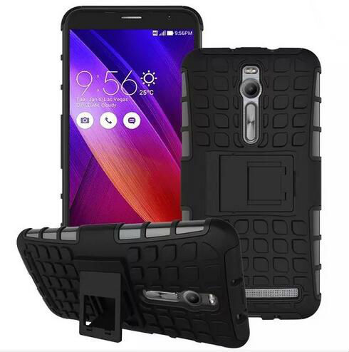 For Asus Zenfone 2 ZE551ML Shock Proof Armor Case Stand Defender Phone Case Cover For Zenfone 2 5.5'' Housing Case + Screen Foil(China (Mainland))