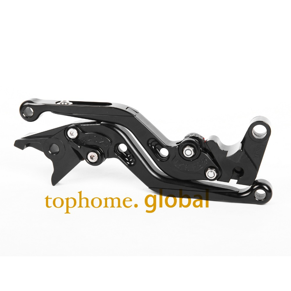 Motorcycle CNC Foldable&Extendable Brake Clutch Levers Black Color Aprilia pegaso 650 strada 2005-2009 2006 2007 2008 - TopHome store