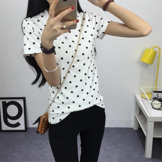2016 новинка женщин летняя футболка классический девочек основные дна с коротким рукавом топ S-XXL бесплатная доставка