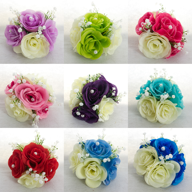 9 color hydrangea flower clips for wedding backdrop for Decoration clips