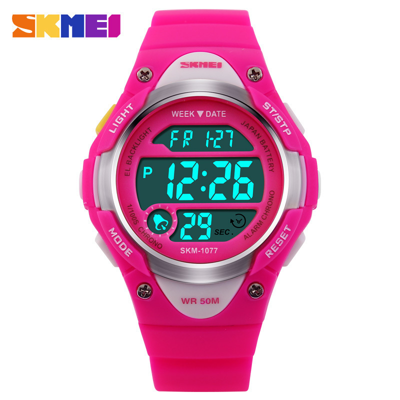 SKMEI Children Watches Cute Kids Watches Sports Cartoon Watch for Girls boys Rubber Children's Digital LED Wristwatches Reloj(China (Mainland))