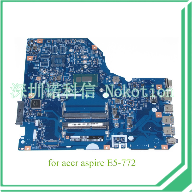 laptop motherboard for acer aspire E5-772 448.04X08.001M NBMVB11005 for pentium 3556U DDR3L(China (Mainland))