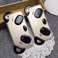 Cystal Clear 3D Panda Cute Cartoon TPU Rubber Shockproof Case Cover for iPhone 5 5s 6