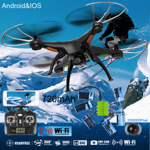 SYNC IMAGE Wifi IOS&Android SYMA X5SW FPV 6-Axis 4-CH Quadcopter RTF 2MP