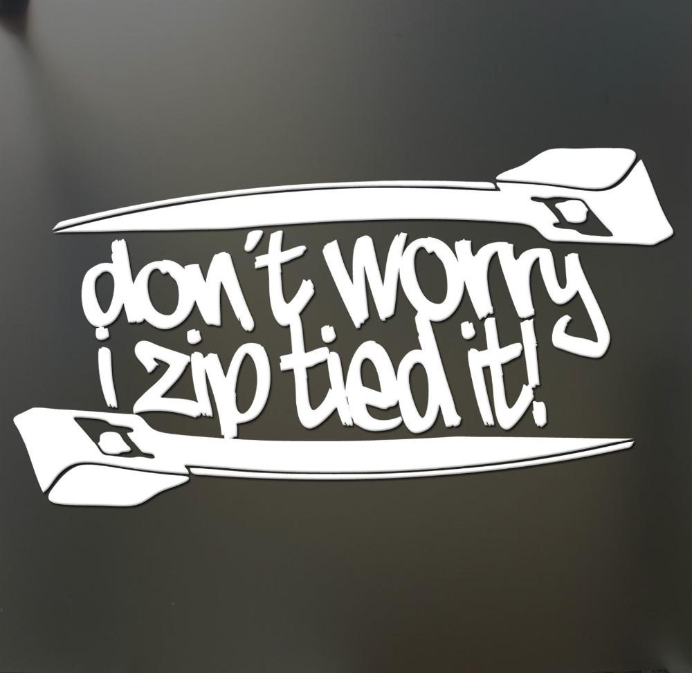 (20pieces/lot) Don't worry i zip tie sticker Funny For vw golf 4 JDM Race Car Window Decal Automotive Sticker(China (Mainland))