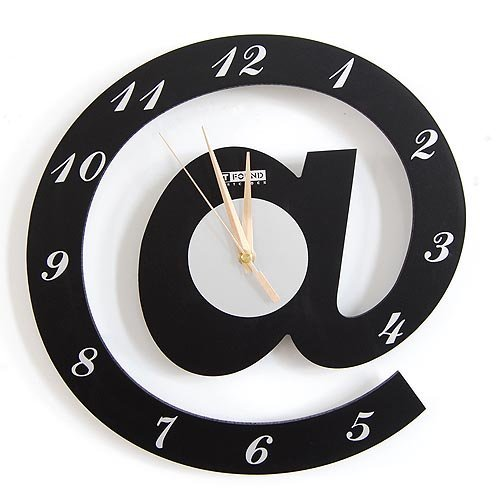 Free shipping wholesale and retail/ @ shaped new idea fashion wall clock/ art clock gift