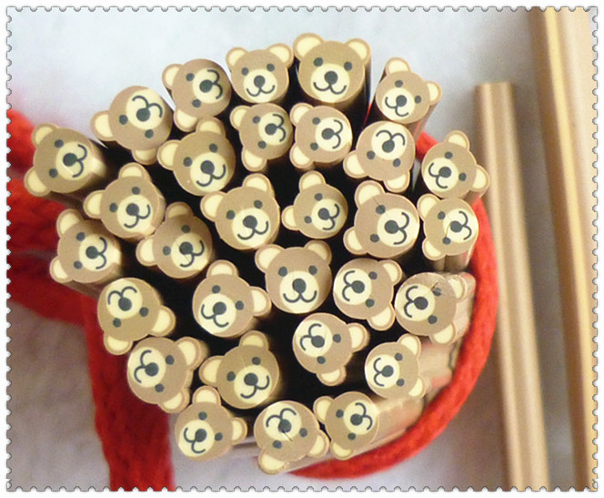 Nail art clay bar fruit of polymer clay stick diy accessories clay bar nail art accessories animal