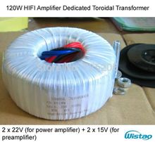 Buy HIFI Amplifier Dedicated Toroidal Transformer 120W Wire Double 15V + Dual 22V LM4766 TA2022 LM3886 amplifier DIY for $23.99 in AliExpress store