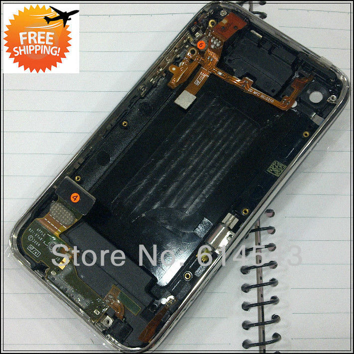 Black Back Cover Housing Assembly for iPhone 3GS with Headphone Jack Flex 8GB 16GB 32GB Full housing Free shipping,1pcs/lot(China (Mainland))