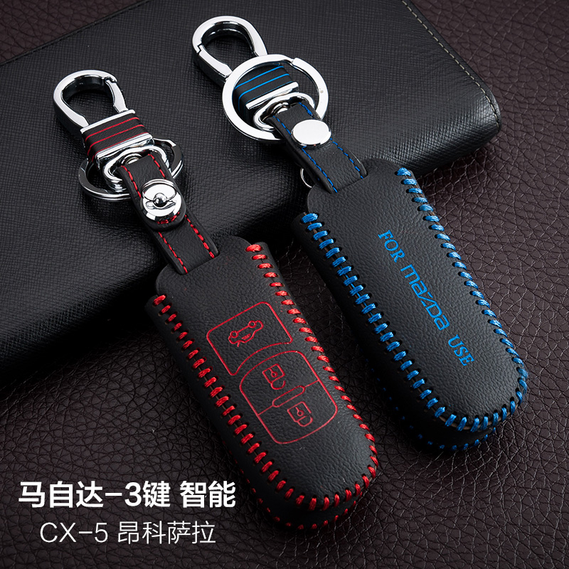 key wallet car genuine leather key cover Car Accessories for Mazda CX 5 CX5 axela 3