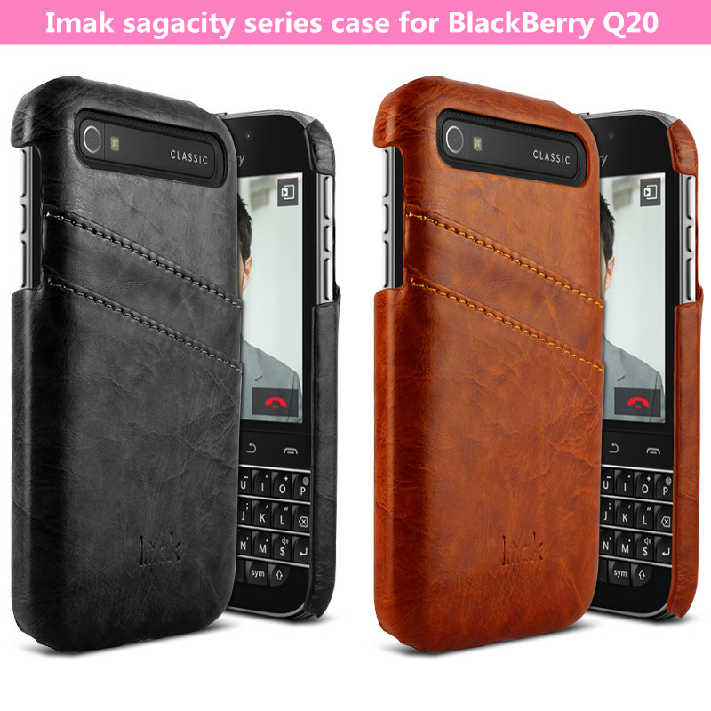 Original Imak sagacity series leather back case for BlackBerry Classic Q20 with retail package freeshipping(China (Mainland))