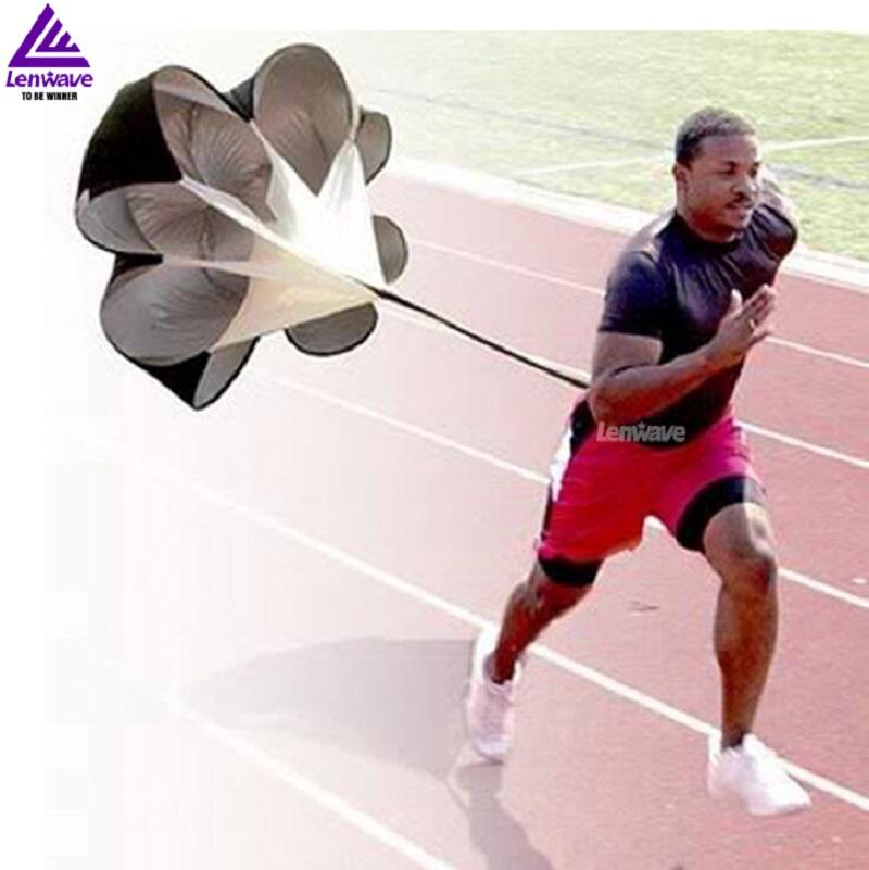 2016 Brand New Speed Resistance Training Parachute Running Chute Soccer Football Training Parachute Umbrella Black free shipping(China (Mainland))