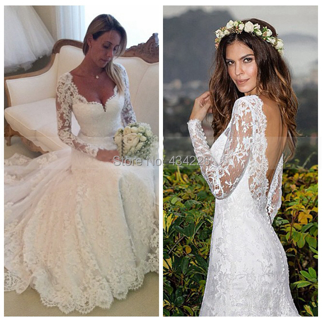 Sexy wedding dresses 2015 sweetheart long sleeve bride for Wedding dress for sale used