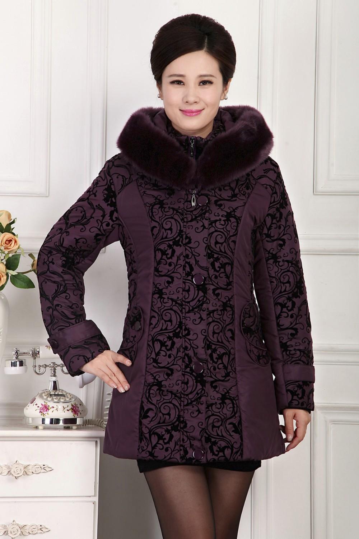 Скидки на Горячая! 2016 новая мода зимняя куртка женская одежда женщины большой меховой воротник толстые парки с капюшоном вниз хлопка пальто плюс размер