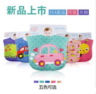 Baby Bibs Cartoon Design Waterproof PEVA Infant Wear baby 3pieces/lot - YIWU Googol No. 2 Store store