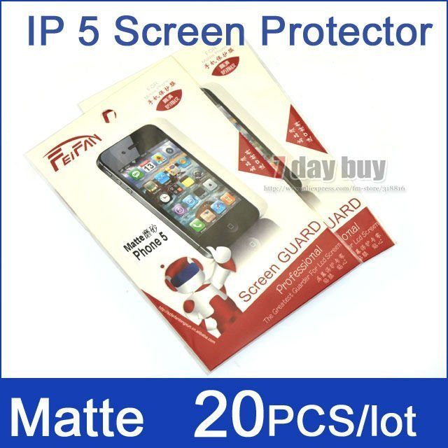 20pcs/lot New For iPhone5 Screen Protector Film Matte Type Durable PET Material LCD Screen Guard For iPhone5 FREE SHIPPING