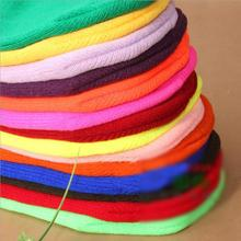 Ready for Winter Warm Unsex Knitting Women Men Wool Fluorescence Color Sport Outdoor Tabby Solid Elastic