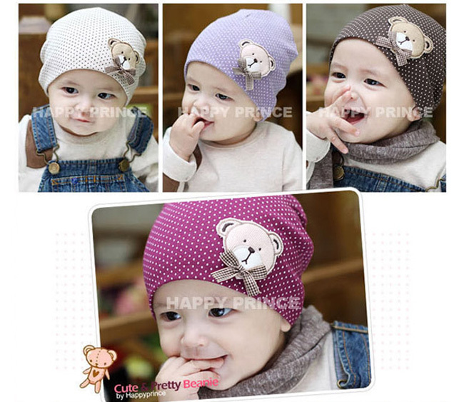 Hot sales baby hat 0-6M cartoon animal bear cotton embroidery multicolor lovely soft newborn infant beanie - Babycareprime store
