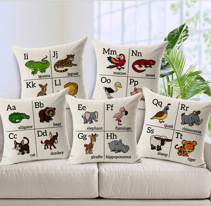 Parrot pillow cover, sheep case, crocodile cushion tiger animal throw cover pillowcase - ninety one store