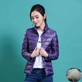 Women Coat Winter Fashion Solid Zipper Pockets Standard Full Length Dark Down Slim Paraks Ladies Warm