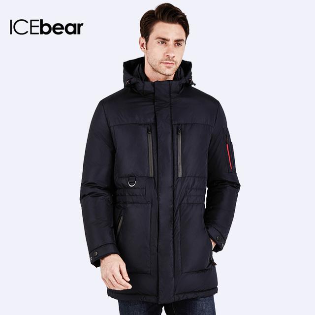 ICEbear 2016 Бренд-Одежда Куртка Мужской зимний жакет Изветный брент-одежды Куртка стильная модная высокого качества Парка для мужчин 16MD908