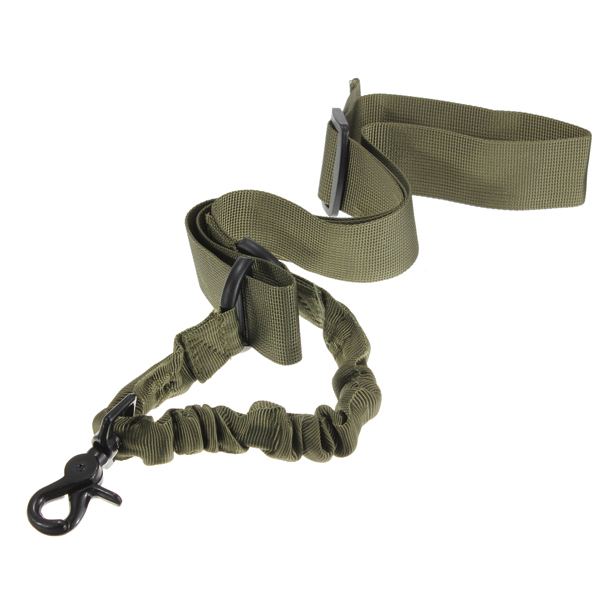 NEW Nylon Multi-function Adjustable Tactical single point Bungee Rifle Gun Airsoft Sling hunting gun Strap Army Green(China (Mainland))