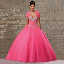 Quinceanera Dresses 2016 Jacket Crystal Beaded Sweet 16 Masquerade Ball Gowns vestidos de 15 anos - Rosy Memory store