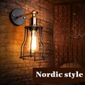 Edison vintage industrial metal cage wall light RH loft dinning room cafe corridor aisle e27 led
