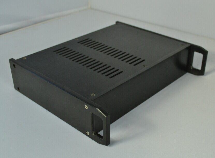 BZ3207B Aluminum black handle amp chassis/Pre-amplifier chassis/DAC chassis/AMP Enclosure / case DIY BOX(316*70*250mm)(China (Mainland))