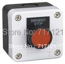 Start-Stop push button switch box XB2-B114 1 red flat pushbutton spring return free shipping<br><br>Aliexpress