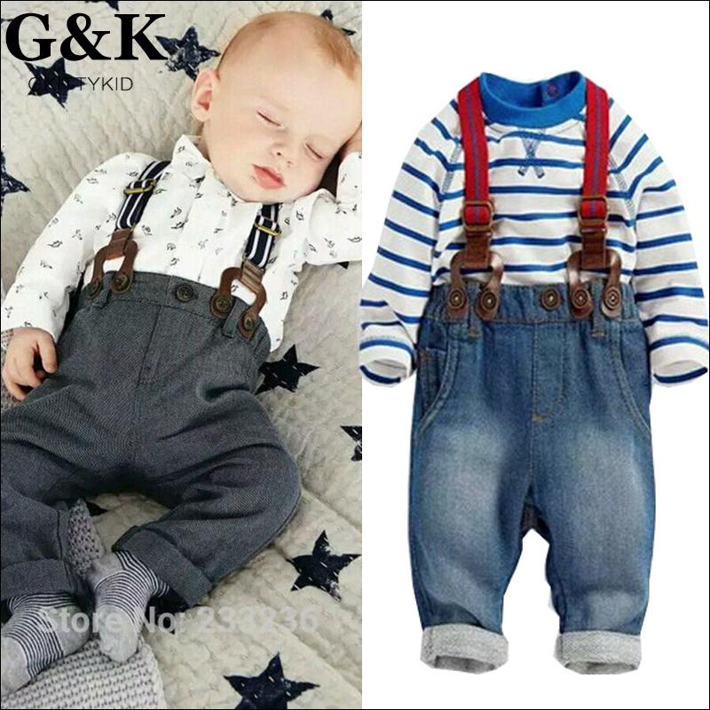 2015 baby clothing set newborn carters baby boy clothes 3pcs suit (t-shirt+pant +straps) Autumn infant garment kids clothes wear(China (Mainland))