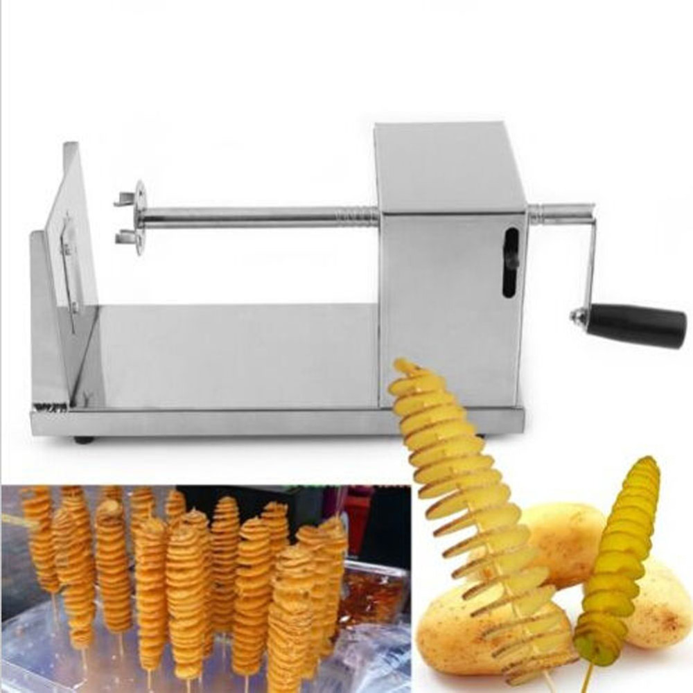 Unihome New Manual Stainless Steel Spiral Potato Slicer Potato Tower Kitchen Tool Fruit & Vegetable Tool Potato Tower Cutter(China (Mainland))