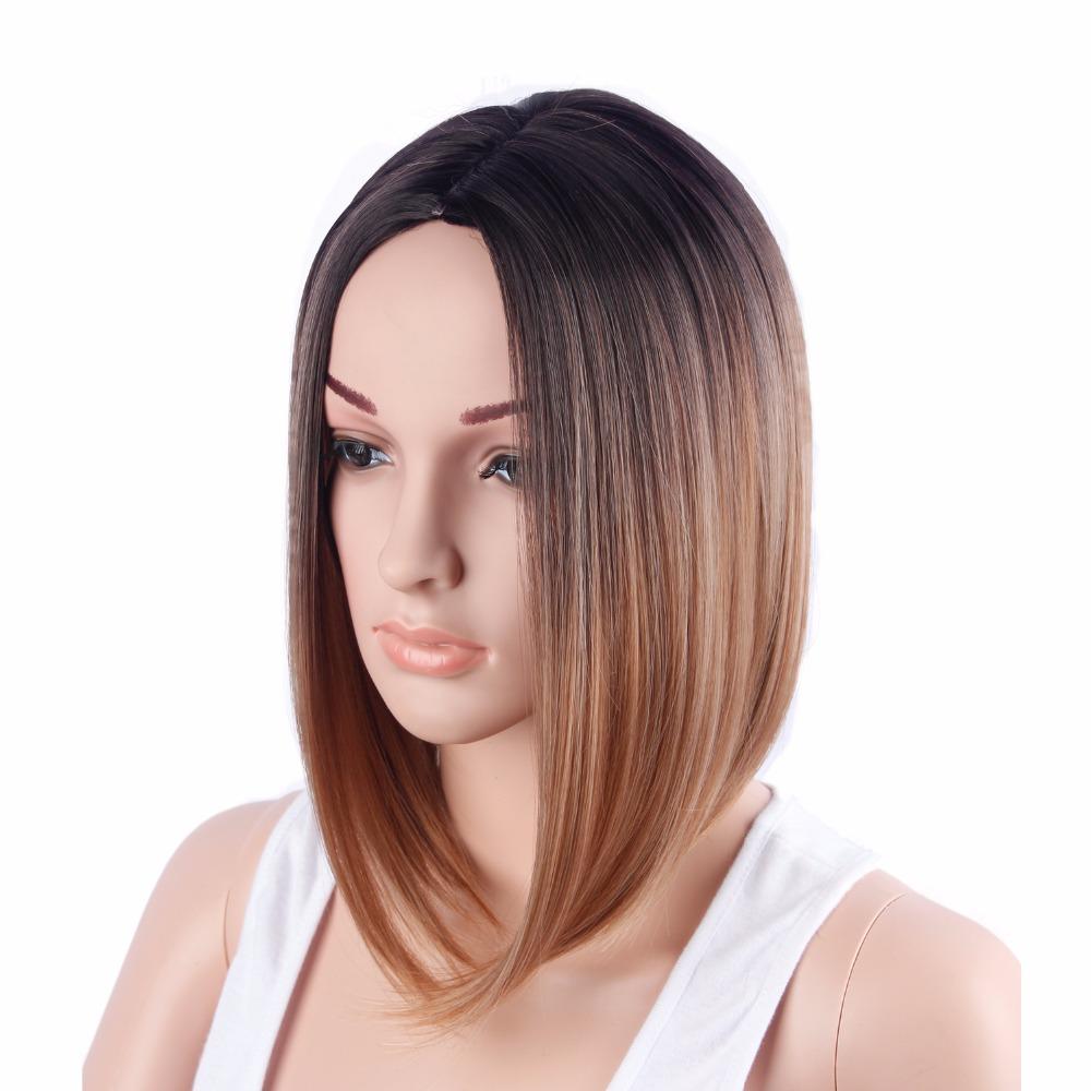 14inch Ombre Dark Blonde Wigs For Black Women Pixie Cut