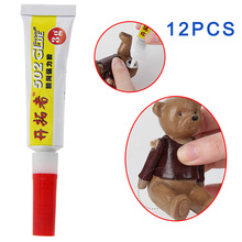 Super Glue 12PCS Strong Rapid Bond Cure 502 Adhesive Tube For Plastic Wood(China (Mainland))