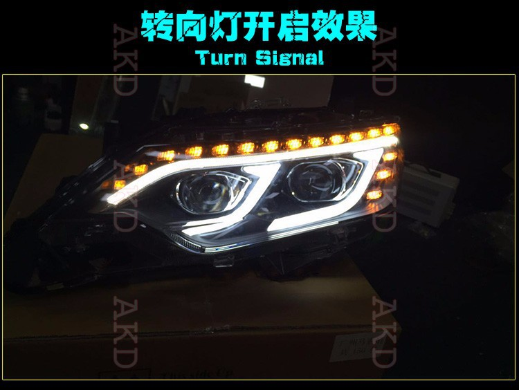 Car Styling New Arrival Headlight for Toyota Camry V55 headlights 2015 Camry LED Headlight led drl H7 hid Bi-Xenon Lens low beam