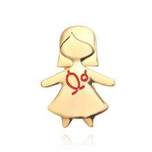 Di modo Dell'infermiera Spilla Carino Spilli Metallo Oro Argento Oro Rosa Regalo Medical Medici Infermiera Rosso Dello Smalto Spille Distintivo Degli Uomini Delle Donne gioielli(China)