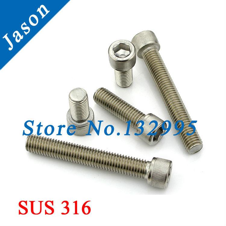 M5*30   DIN912  Stainless Steel A4 Hex Socket Head Cap Screw  SUS 316 DIN912 M5*L<br><br>Aliexpress
