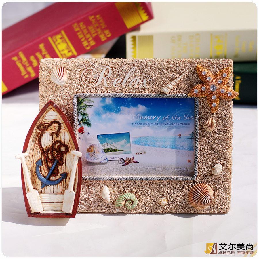 Themed Frames, Beach Sea Sand Resin Photo Frame (TFBS01) 3.5x5'' - China TreasureHunt Home Decoration Co. Ltd. store