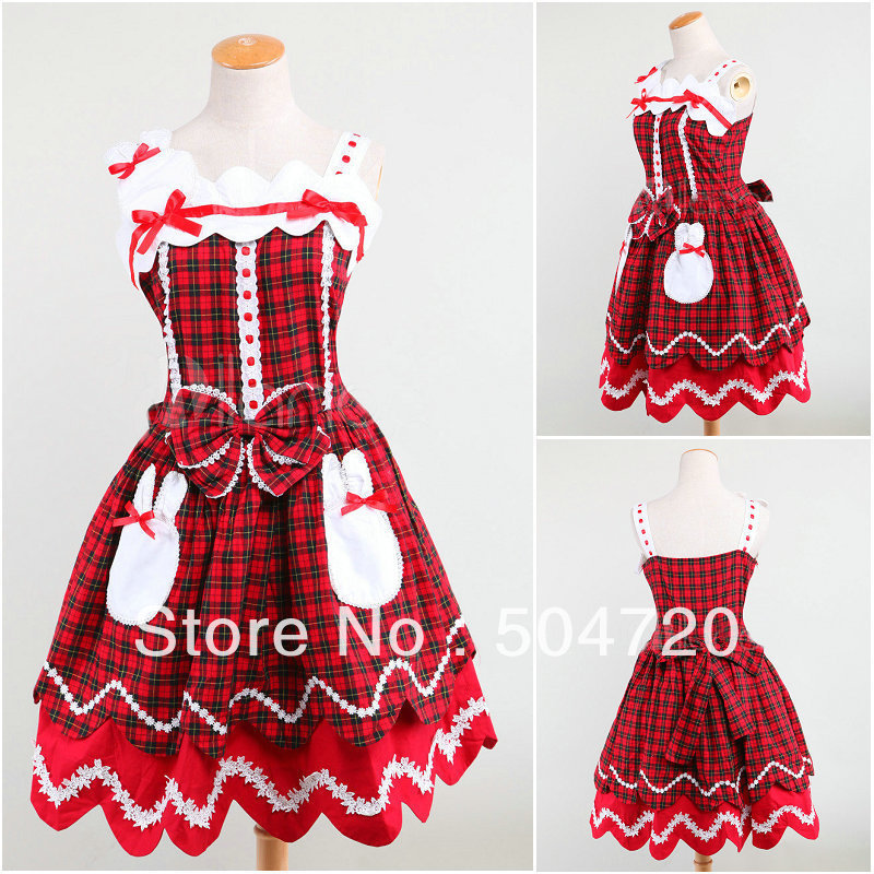 Freeshipping! RED cotton Classic sweet Lolita/victorian dress Civil War Southern Belle Halloween dresses V-959Одежда и ак�е��уары<br><br><br>Aliexpress