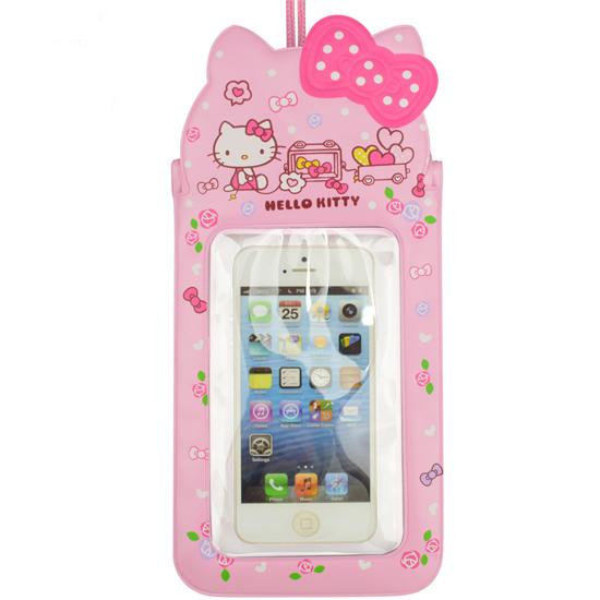 Hello Kitty Cartoon Girls PVC Swimming Waterproof Phone Bag Case Underwater Telephone Pouch For Below 5.5 Inches Telephone(China (Mainland))