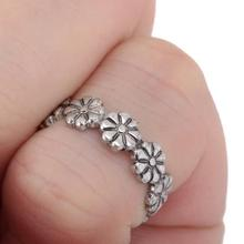 12pcs Wholesale Ring Sets Mix Celebrity Fashion Simple Retro Carved Flower Adjustable Toe Foot Ring Finger
