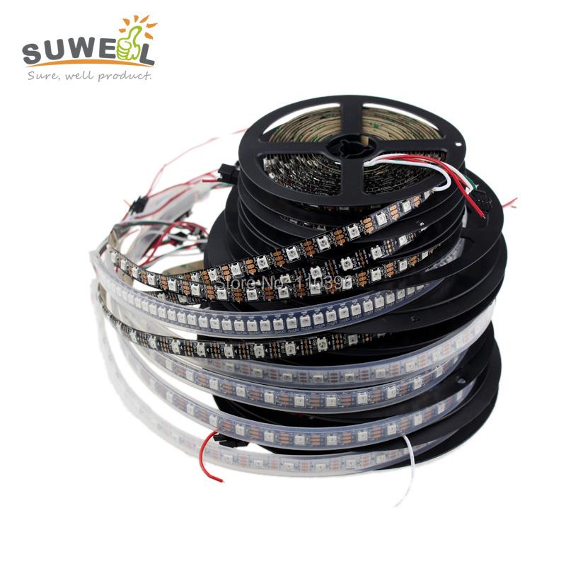 individually addressable 1m 2m 4m 5m waterproof ip65 ip67 5050 rgb 30 60 74 96 144 led/m 5v ws2811 ws2812 ws2812b led strip<br><br>Aliexpress