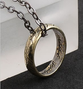 Gothic jewelry (30pcs/lot) A 2013 new arrive vintage Lord of the Ring punk pendant necklace W0013 free shipping