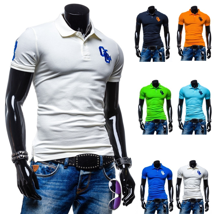 Hot Sale 2015 New Fashion Brand Summer Men Polo Shirt Men Clothing Solid Polo Shirts Casual Cotton Sportswear Breathable Polo(China (Mainland))